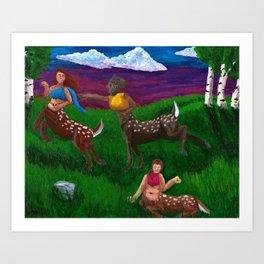 Cervitaurs At Play Art Print