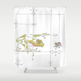 Whimsical Frog & Spider Shower Curtain