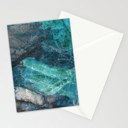 Cerulean Blue Marble Stationery Cards