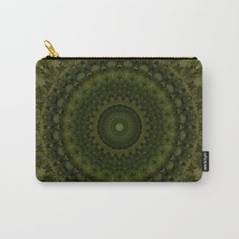 Mandala in olive green tones Carry-All Pouch