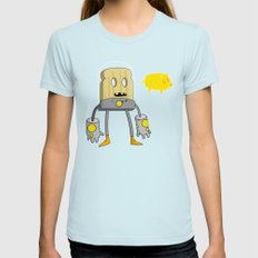 Space Toast LARGE Light Blue Womens Fitted Tee