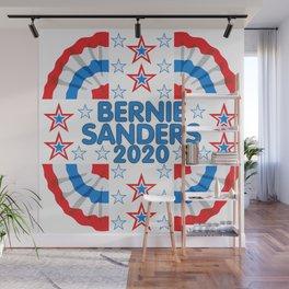 Bernie Sanders 2020 Red White Blue Banner Wall Mural