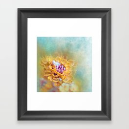 VARIE SQUARE - Floral and painterly texture work Framed Art Print