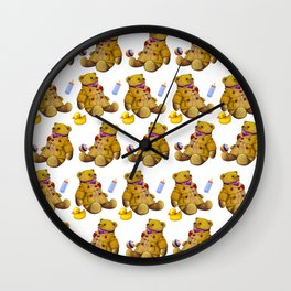 Bears with rubberduck ...... Wall Clock
