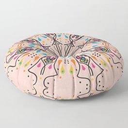 Phallic Mandala with a hint of Anus Floor Pillow