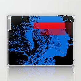 Black Blue Red Contemporary Editorial Model Pop Art Laptop & iPad Skin