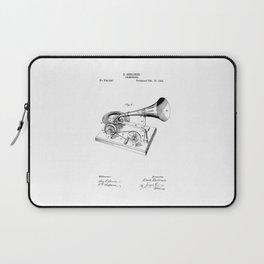 patent art Berliner Gramophone 1895 Laptop Sleeve