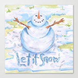 Let it Snow! Snowman Canvas Print