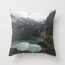 Grinnell Lake from the Trail No. 2 - Glacier NP Throw Pillow