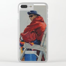 100th Street Beach Lifeguard Stone Harbor New Jersey NJ Clear iPhone Case