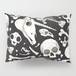 black Skulls and Bones - Wunderkammer Pillow Sham