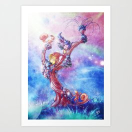 Blowing Art Print