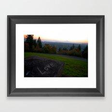 Love at Sunrise Over Mt. Hood Framed Art Print