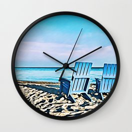 Join Me On The Beach, Won't You? Wall Clock