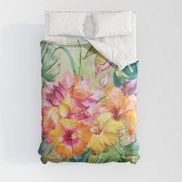 Tropical Hibiscus Garden Comforters