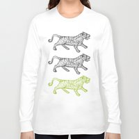 tigers Long Sleeve T-shirts featuring Three Tigers by YAP9