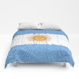 Extruded Flag of Argentina Comforters