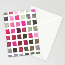 Crape Myrtle Abstract Rectangles 2 Stationery Cards