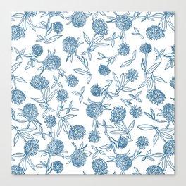 Clover pattern Canvas Print