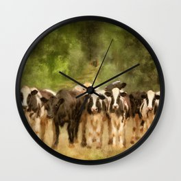 Curious Cows Wall Clock