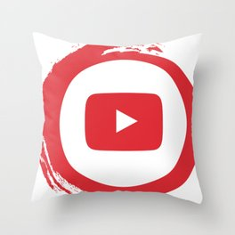 youtube youtuber - broadcast best design you tube for YouTube lover Throw Pillow