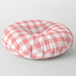 Red gingham fabric cloth, seamless pattern Floor Pillow