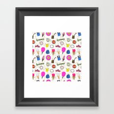 Growing Up in the 90s Framed Art Print