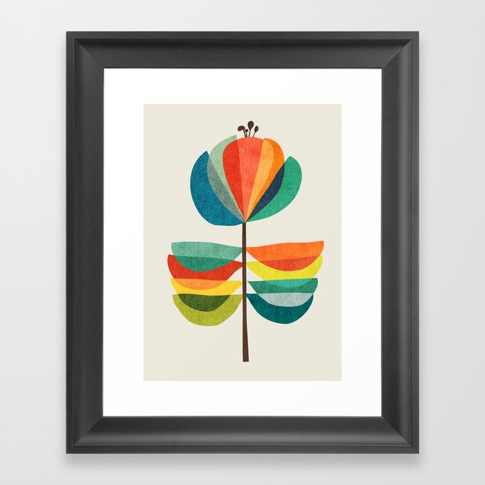Whimsical Bloom Framed Art Print