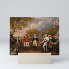 The Surrender of General Burgoyne at Saratoga, 1777 by John Trumbull Mini Art Print