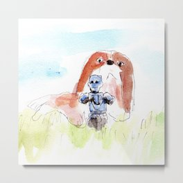 When Scout meet the Dog Metal Print