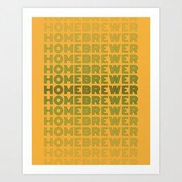Homebrewer (70's Repeat) Art Print
