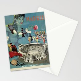 Madrid, Iberia Air Lines - Vintage Poster Stationery Cards