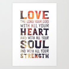 (Colors) Heart Soul Strength Art Print
