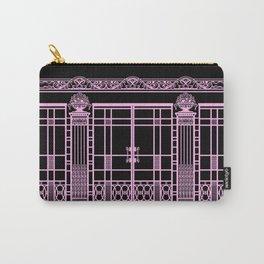 ART DECO, ART NOUVEAU IRONWORK: Pink on Black Carry-All Pouch