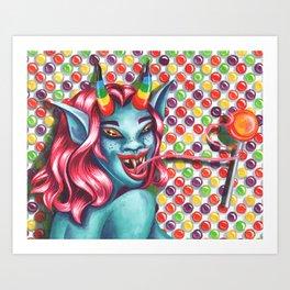 Candy Monster Girl Art Print