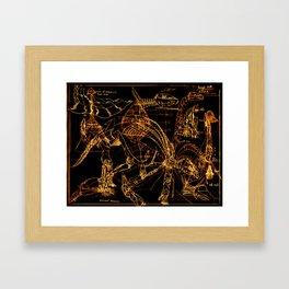 Mash up Framed Art Print