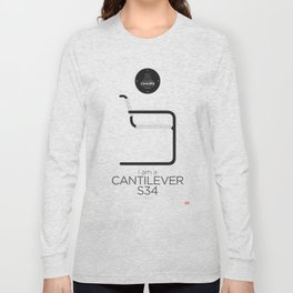 Mart Stam' S34 Cantilever Chair (minimalistic version) Long Sleeve T-shirt