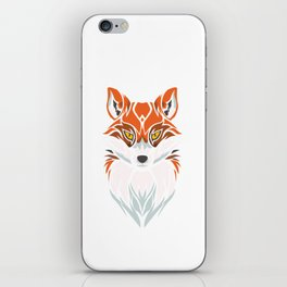 Tribal Fox - Wild Animal Art - Exotic Animals iPhone Skin