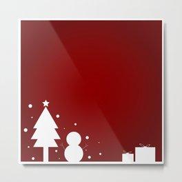 Christmas Red Theme Metal Print