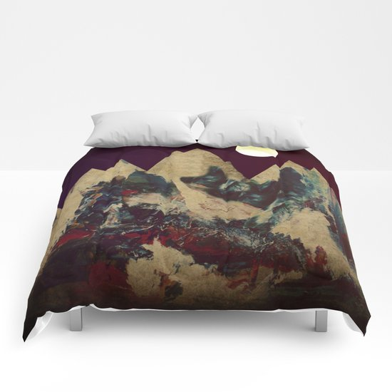 Cardboard Mountains Comforters