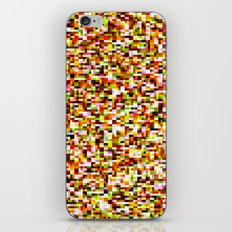 Noise pattern - yellow/red iPhone & iPod Skin