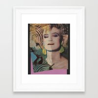 80s Framed Art Prints featuring Totally 80s by Ira Carter