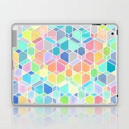 Rainbow Cubes & Diamonds Laptop & iPad Skin