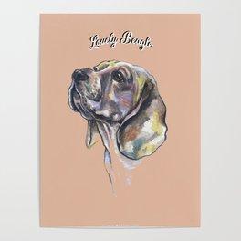Lovely Beagle - by Fanitsa Petrou. Poster