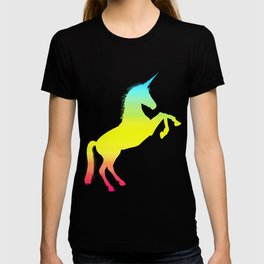 Ombre Magical Rainbow Unicorn Colors T-shirt