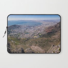 View of Cape Town from Table Mountain in South Africa Laptop Sleeve