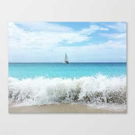 Sailing the Caribbean Canvas Print