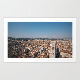 Atop the Duomo - Florence, Italy. Art Print