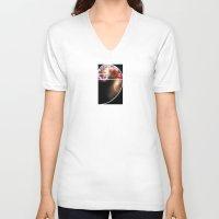 fibonacci V-neck T-shirts featuring Fibonacci Spiral Galaxy by Galactic Mantra