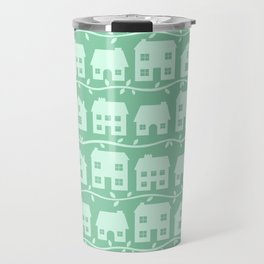 Cottage Charm in Peppermint Green Travel Mug